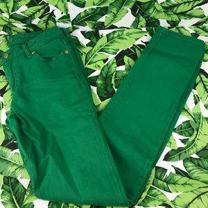 5 for $25 Michael Kors Green Denim Skinny Jeans